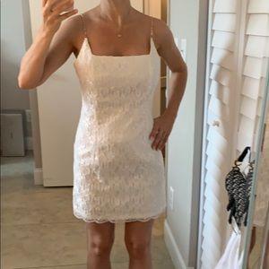 Vintage style beautiful white lace dress